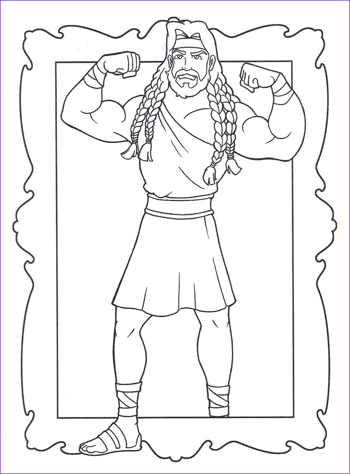 Samson Coloring Pages Inspirational Image Pin by Stephani Ciezki On Preschool Bible Lessons
