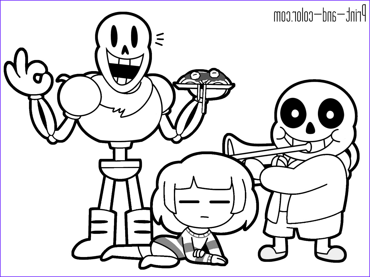 frisk and chara coloring pages
