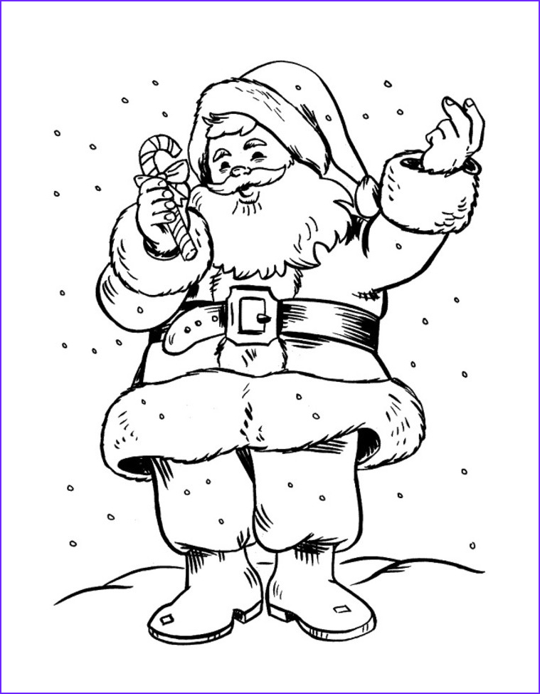 Santa Claus Coloring Best Of Gallery Free Printable Santa Claus Coloring Pages for Kids