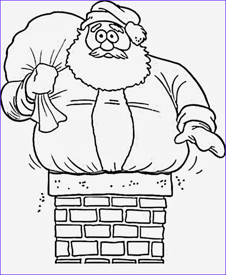 7 santa claus coloring pages for kids