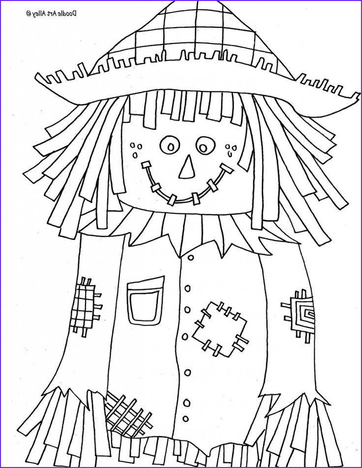 Scarecrow Coloring Beautiful Image Scarecrow Coloring Page Crafts for Will