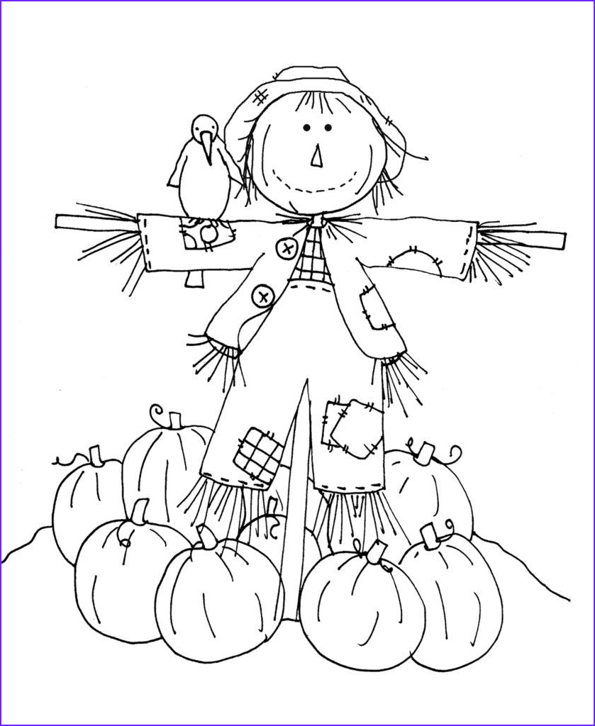 coloring pages of scarecrows for preschooers