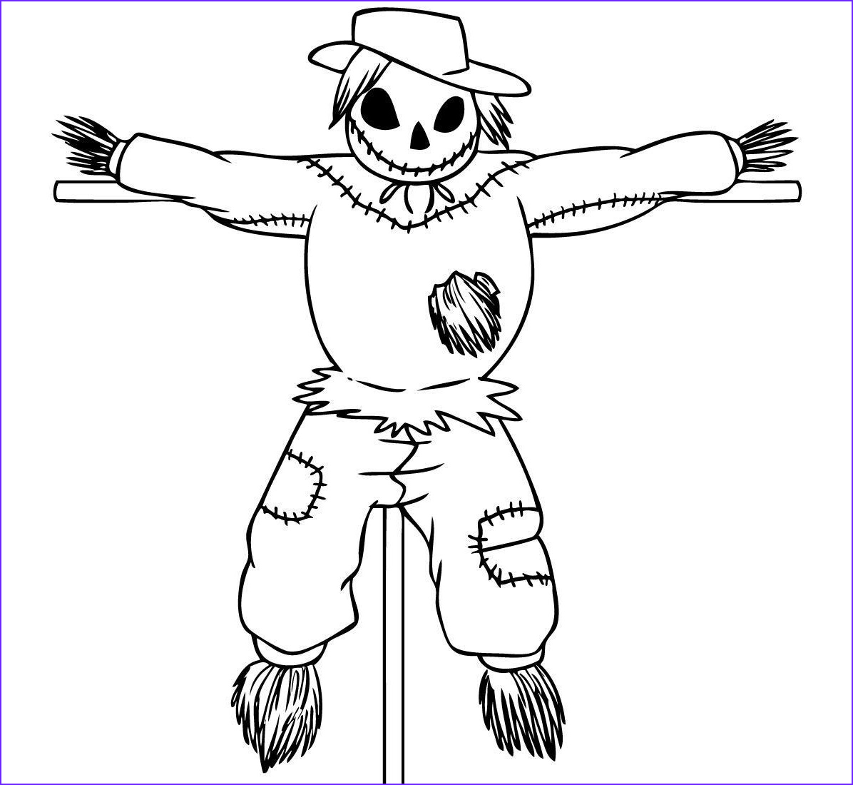 Scarecrow Coloring Beautiful Stock Free Printable Scarecrow Coloring Pages for Kids