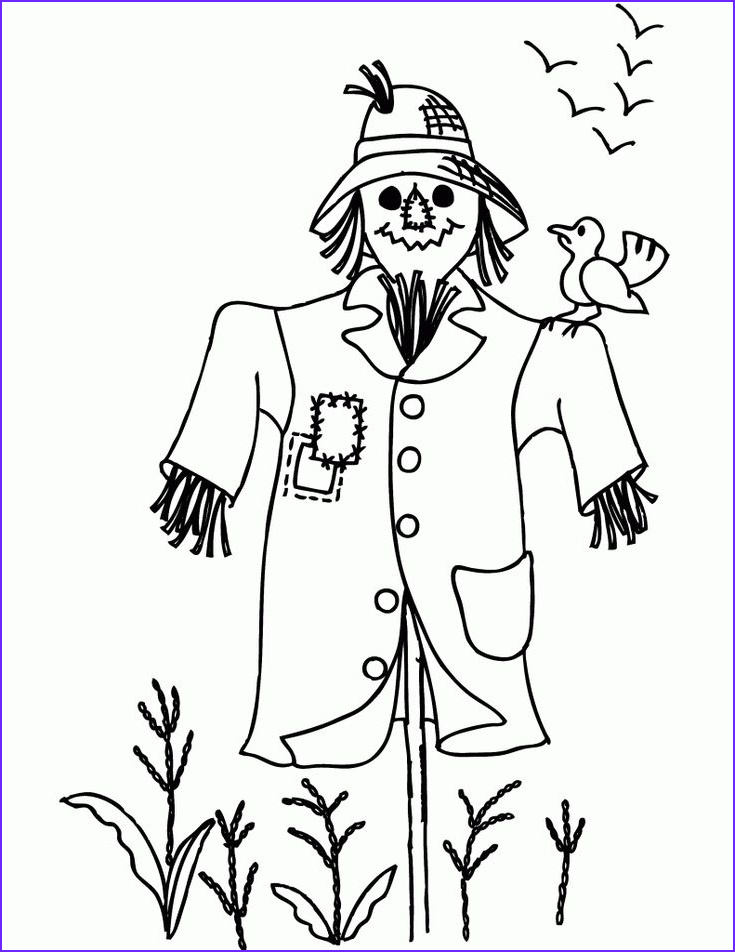 """Scarecrow Coloring Best Of Gallery 64 Best Images About Icolor """"scarecrows"""" On Pinterest"""