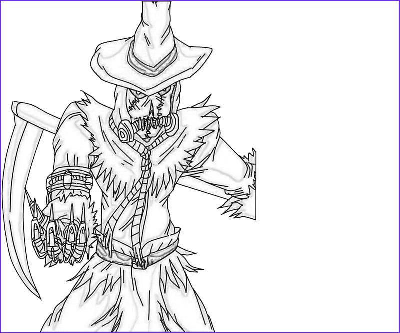 Scarecrow Coloring Best Of Gallery Scarecrow Coloring Pages Coloring Home