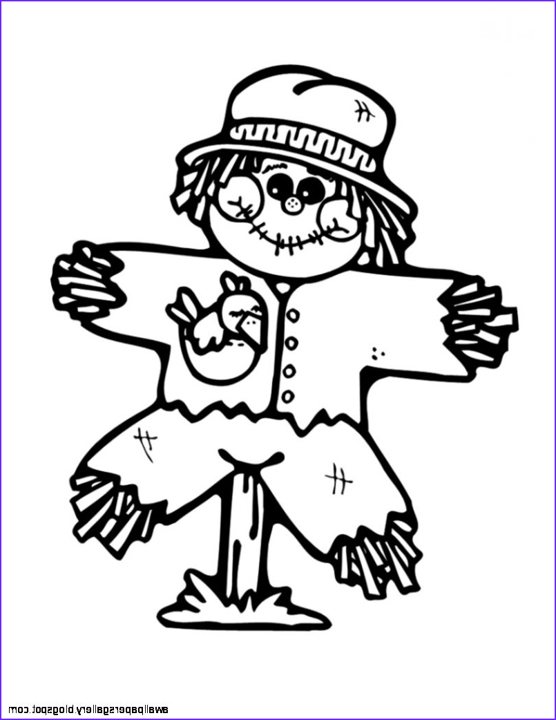 Scarecrow Coloring Best Of Photos Free Scarecrow Clipart Clipartix