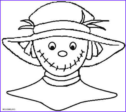 Scarecrow Coloring Cool Images Printable Scarecrow Coloring Pages for Kids