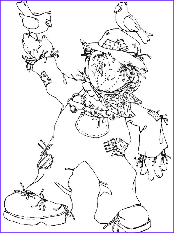Scarecrow Coloring Cool Photos Free Printable Scarecrow Coloring Pages for Kids