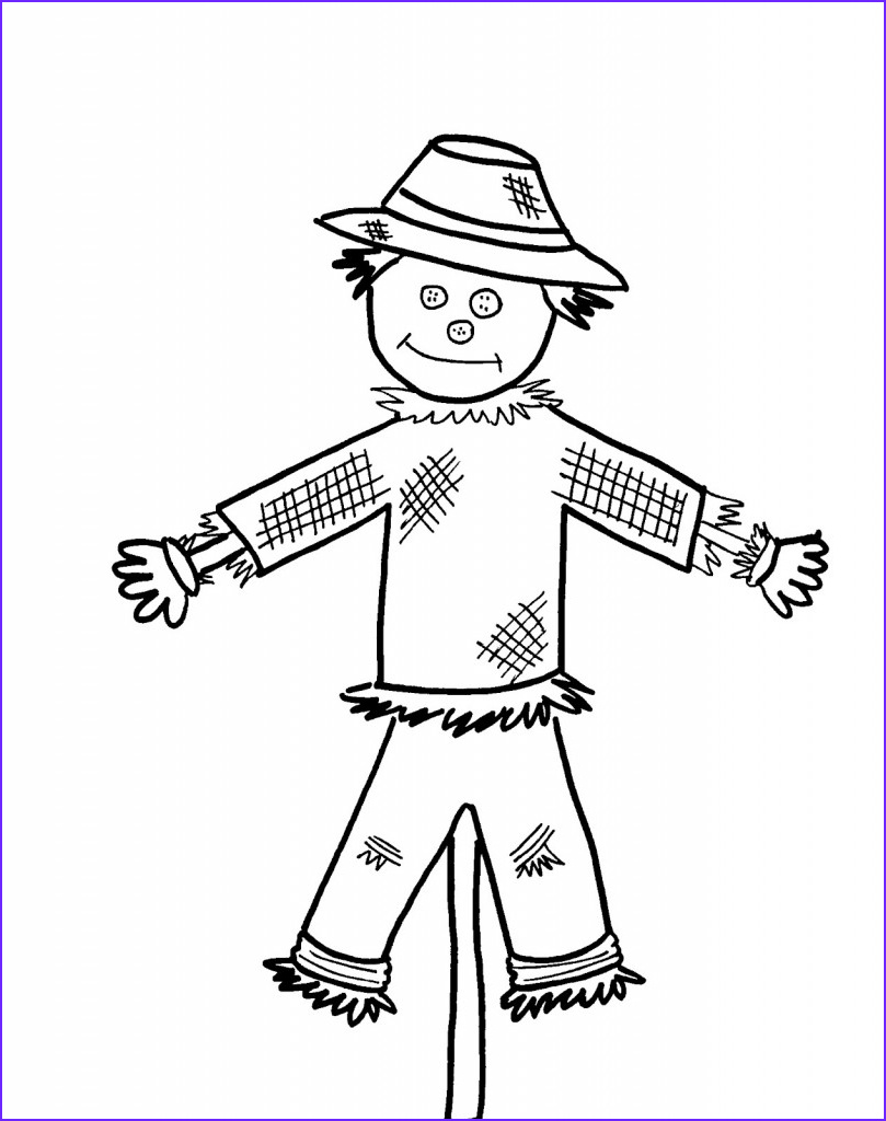 Scarecrow Coloring Inspirational Image Free Printable Scarecrow Coloring Pages for Kids