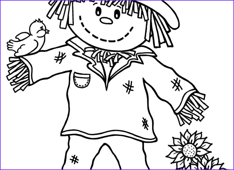 Scarecrow Coloring Luxury Collection 15 Printable Scarecrow Coloring Pages Print Color Craft
