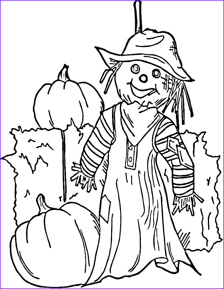 Scarecrow Coloring Luxury Photos Free Printable Scarecrow Coloring Pages for Kids