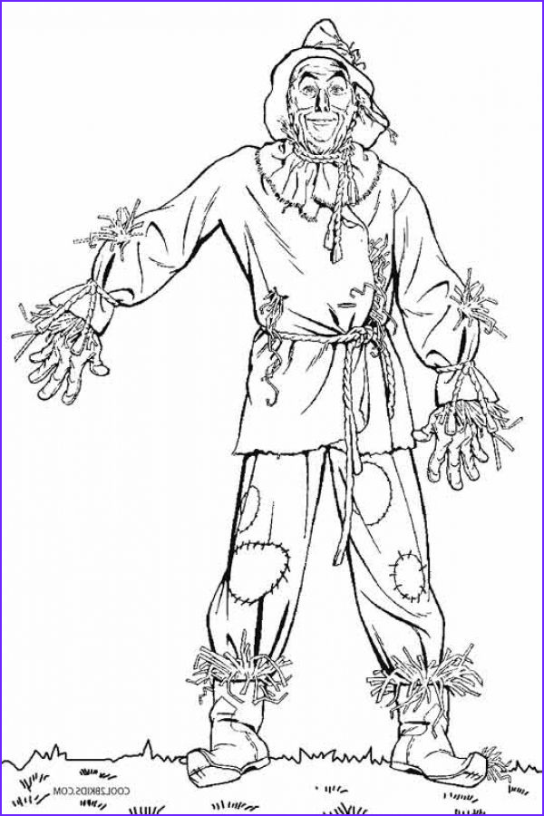 Scarecrow Coloring Luxury Photos Scarecrow From Wizard Of Oz Kids Printable Coloring Pages