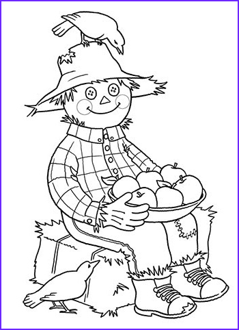 Scarecrow Coloring Luxury Stock Dulemba Coloring Page Tuesday Scarecrow