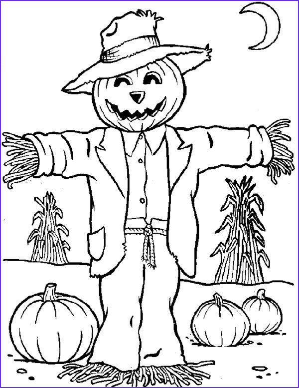 Scarecrow Coloring Luxury Stock Scarecrow Coloring Pages