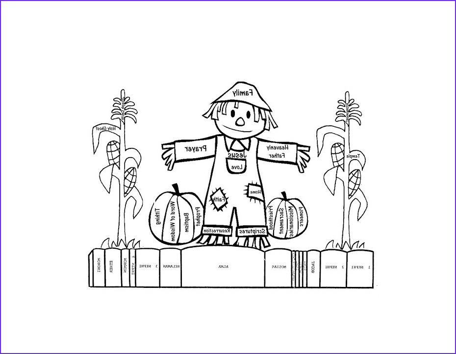 Scarecrow Coloring New Collection Free Printable Scarecrow Coloring Pages for Kids