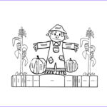 Scarecrow Coloring Page Awesome Photography Free Printable Scarecrow Coloring Pages For Kids