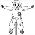 Scarecrow Coloring Page Beautiful Photography Free Printable Scarecrow Coloring Pages For Kids