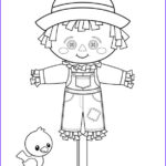 Scarecrow Coloring Page Beautiful Stock Free Printable Fall Coloring Pages For Kids