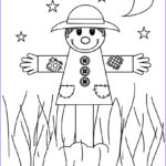 Scarecrow Coloring Page Beautiful Stock Free Printable Scarecrow Coloring Pages For Kids