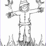 Scarecrow Coloring Page Cool Collection Printable Scarecrow Coloring Pages For Kids