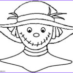 Scarecrow Coloring Page Cool Image Printable Scarecrow Coloring Pages For Kids