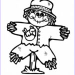 Scarecrow Coloring Page Luxury Stock Thanksgiving Scarecrow Coloring Pages Pumpkin Face Scarecrow