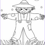 Scarecrow Coloring Page New Images Printable Scarecrow Coloring Pages For Kids