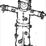 Scarecrow Coloring Page Unique Image Scarecrow Drawing At Getdrawings