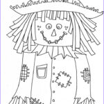 Scarecrow Coloring Page Unique Photos Scarecrow Coloring Page Crafts For Will