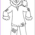Scarecrow Coloring Sheet Beautiful Collection Scarecrow Coloring Pages Ready for or Print
