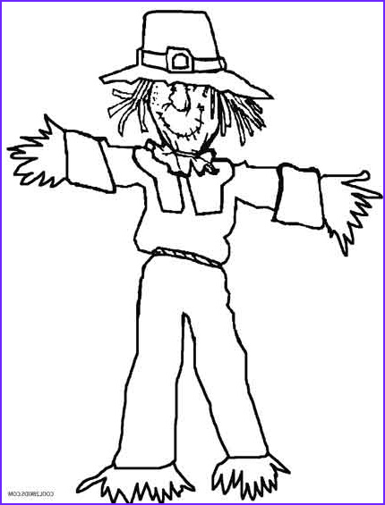 Scarecrow Coloring Unique Image Printable Scarecrow Coloring Pages for Kids