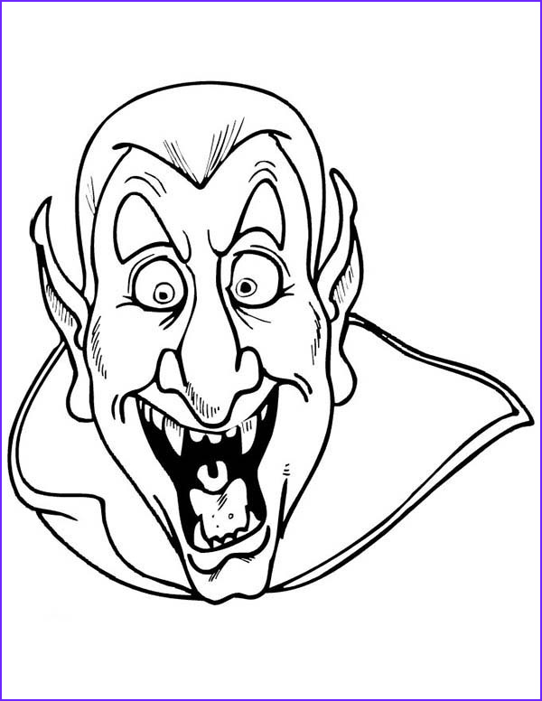 scary dracula coloring page