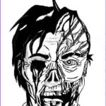 Scary Coloring Books Cool Gallery Scary Two Faces Coloring Page
