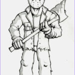 Scary Coloring Books Cool Image Jason Coloring Page …