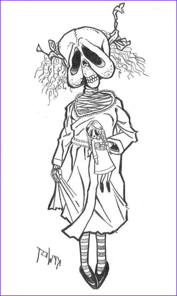 Scary Coloring Books New Photos Day010 Creepy Doll by Freakcastle On Deviantart