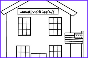 School House Coloring Pages Beautiful Gallery School House Coloring Page