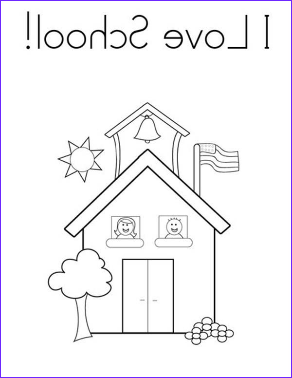 School House Coloring Pages Beautiful Image I Love School House Coloring Page