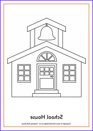 School House Coloring Pages Beautiful Photos School Colouring Pages