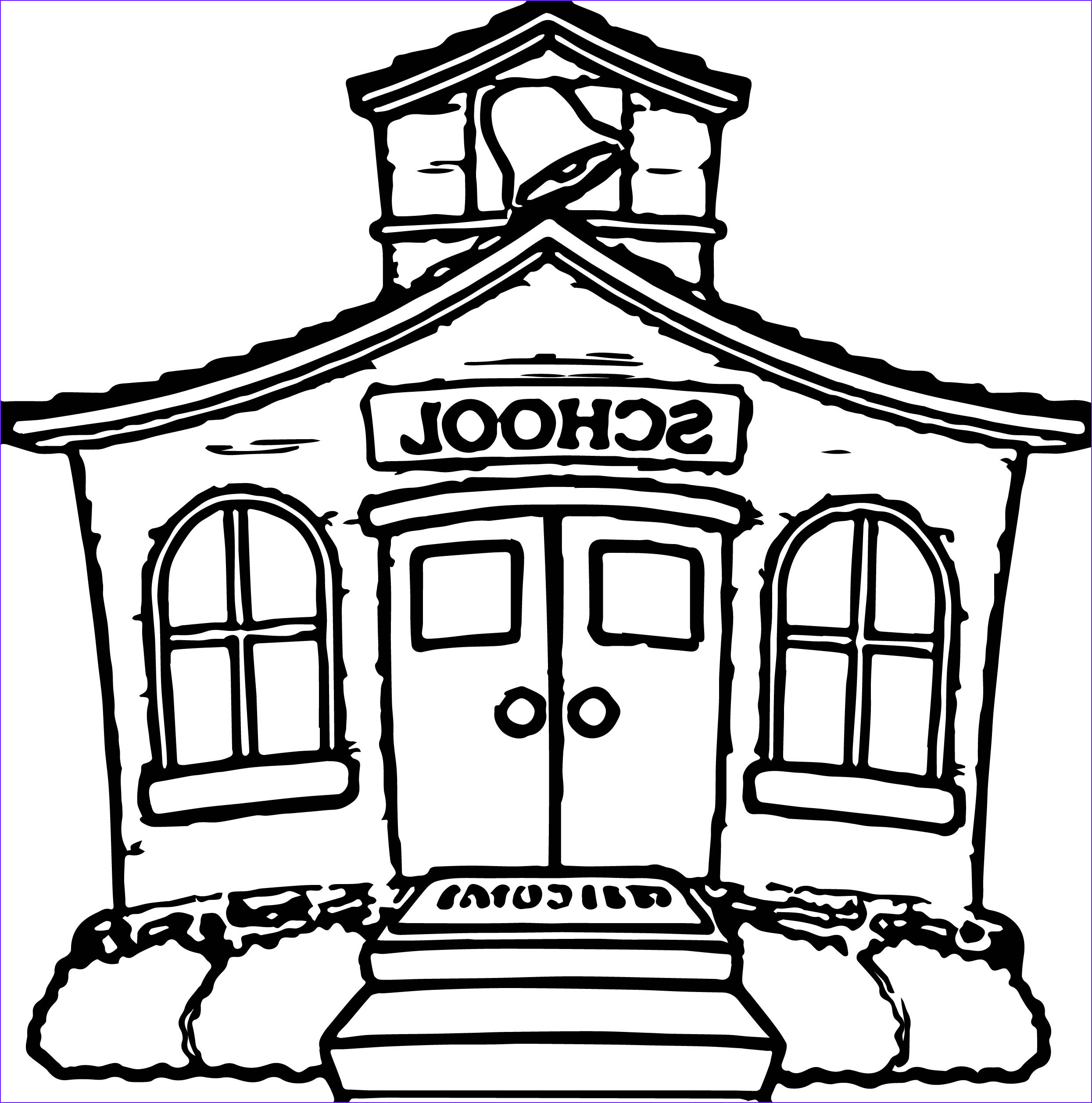 School House Coloring Pages Luxury Photos Any School House Coloring Page