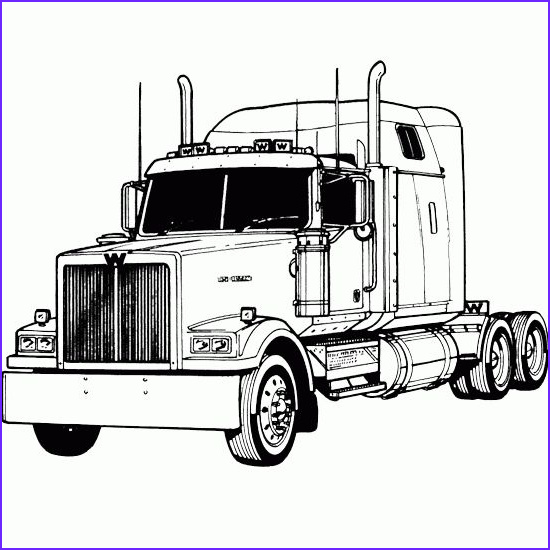 Semi Truck Coloring Pages Awesome Collection Semi Truck Coloring Pages