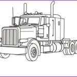Semi Truck Coloring Pages Unique Image Semi Truck Tractor Drawing Sketch Coloring Page