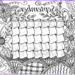 September Coloring Pages Cool Gallery September Doodled Calendar Coloring Page