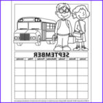 September Coloring Pages Cool Stock Printable Calendar Coloring Pages For Kids Preschool And