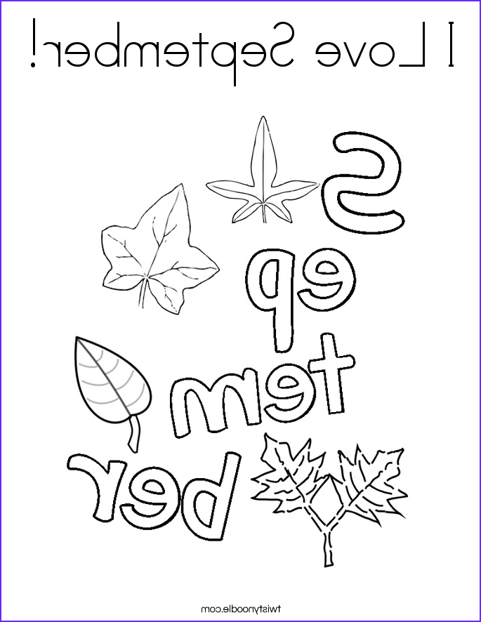 i love september 4 coloring page