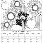September Coloring Pages Elegant Gallery September 2016 Coloring Calendar Page