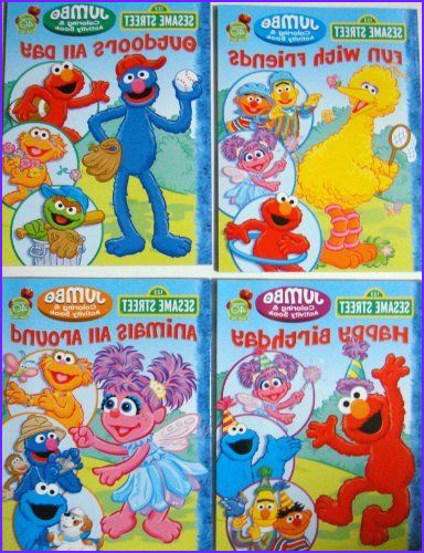 Sesame Street Coloring Books Beautiful Photography Sesame Street Coloring & Activity Book Set Of 4 Books by
