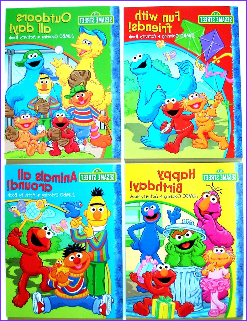 Sesame Street Coloring Books Cool Collection Sesame Street Jumbo Coloring & Activity Set 448 Pg