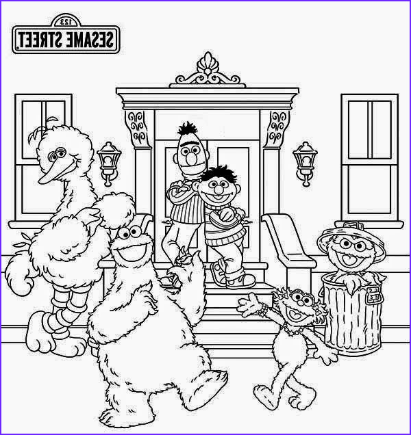 coloring pages sesame street