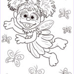 Sesame Street Coloring Books New Collection Abby Cadabby Flying With Butterflies Coloring Page