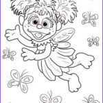 Sesame Street Coloring Books New Photos Abby Cadabby Flying With Butterflies Coloring Page From